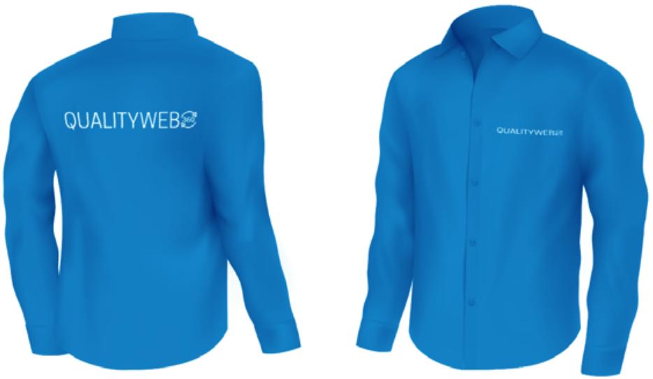 camisa azul - Manual de Uso de Marca