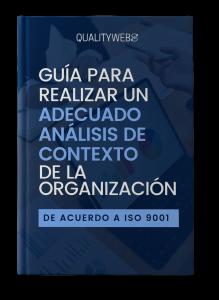 Portada Guía Qualityweb360 - Guía para realizar un adecuado Análisis de Contexto de la Organización de acuerdo a ISO 9001
